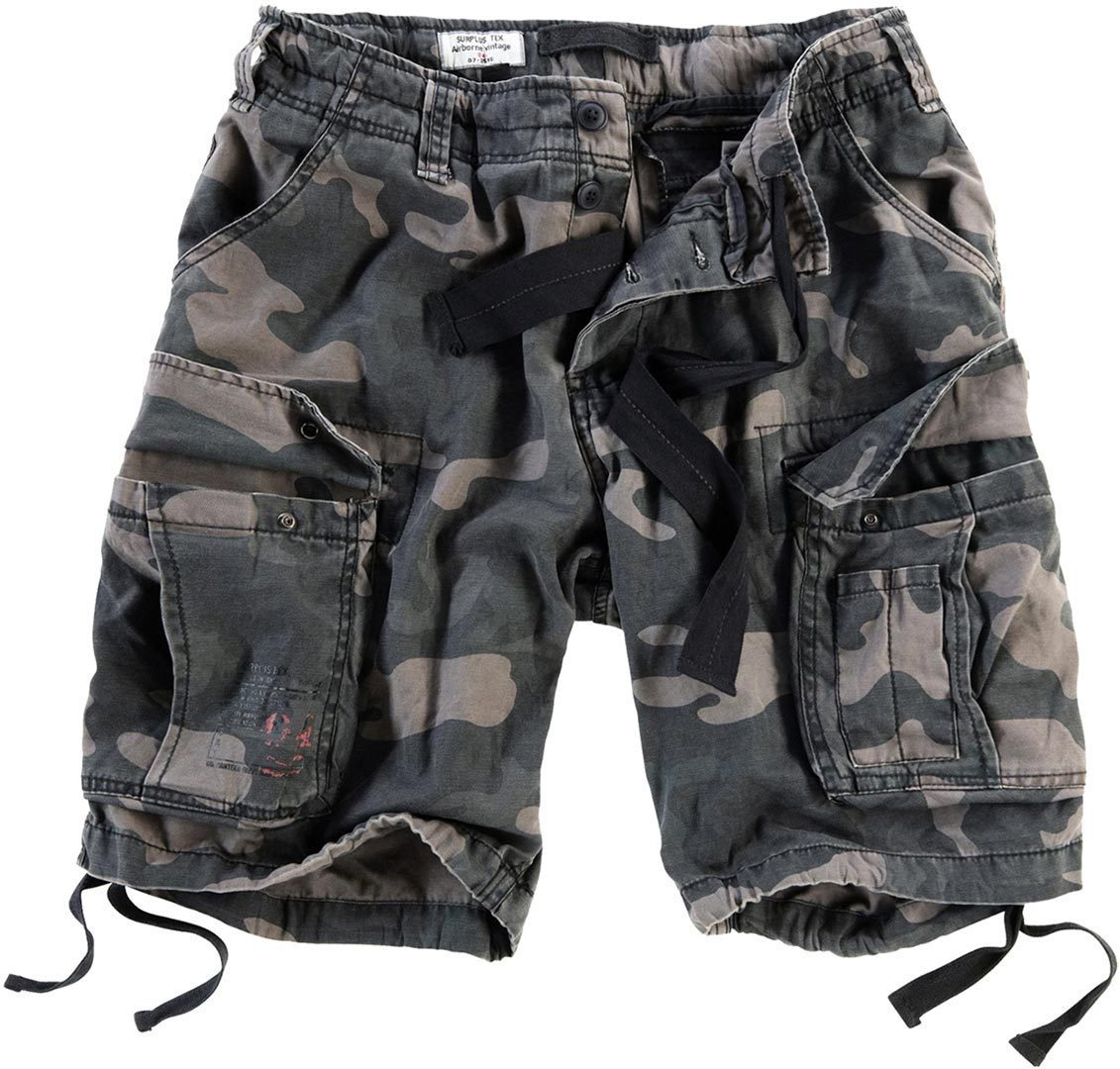 Surplus Airborne Vintage Shorts, schwarz, Größe 2XL, schwarz, Größe 2XL