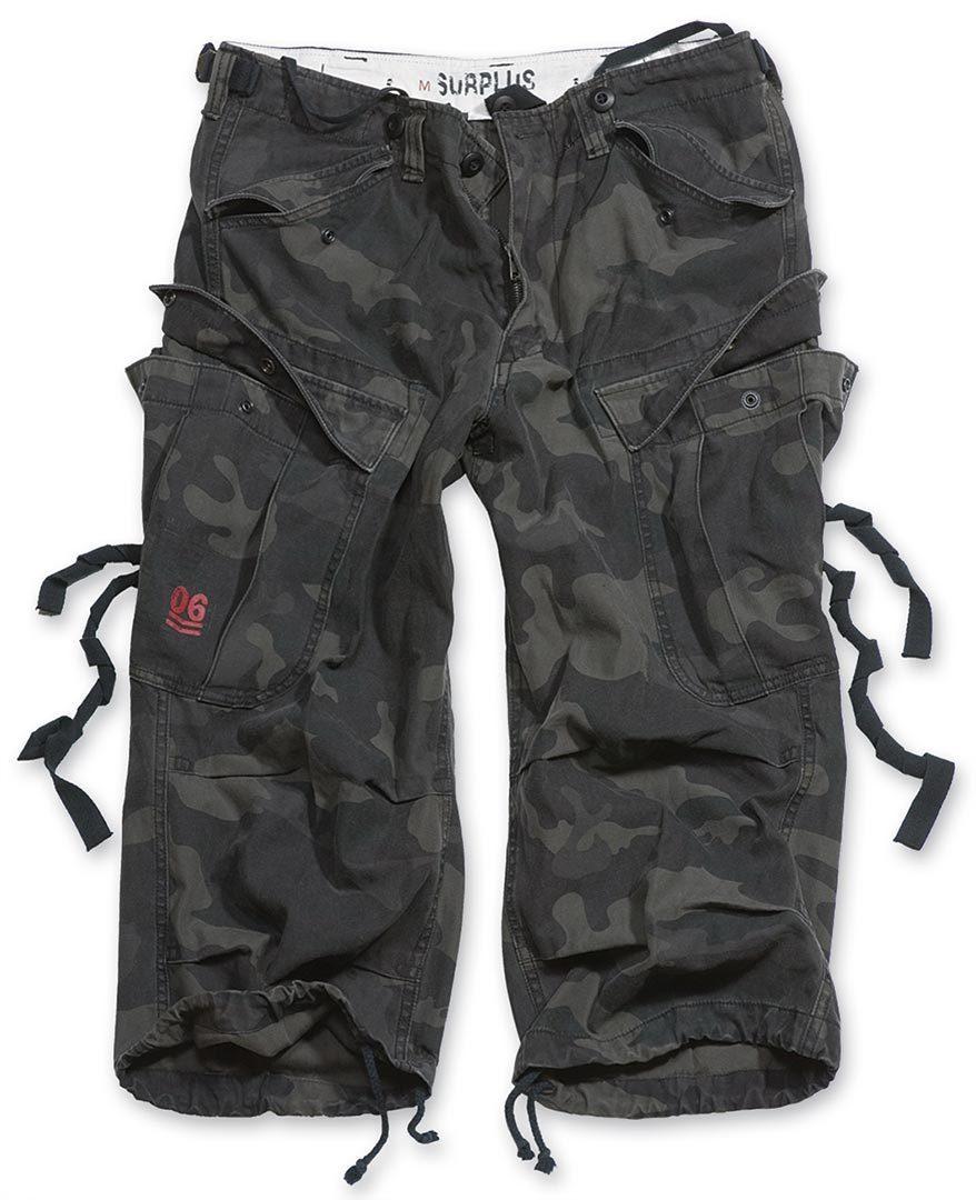 Surplus Engineer Vintage 3/4 Shorts, schwarz, Größe L, schwarz, Größe L
