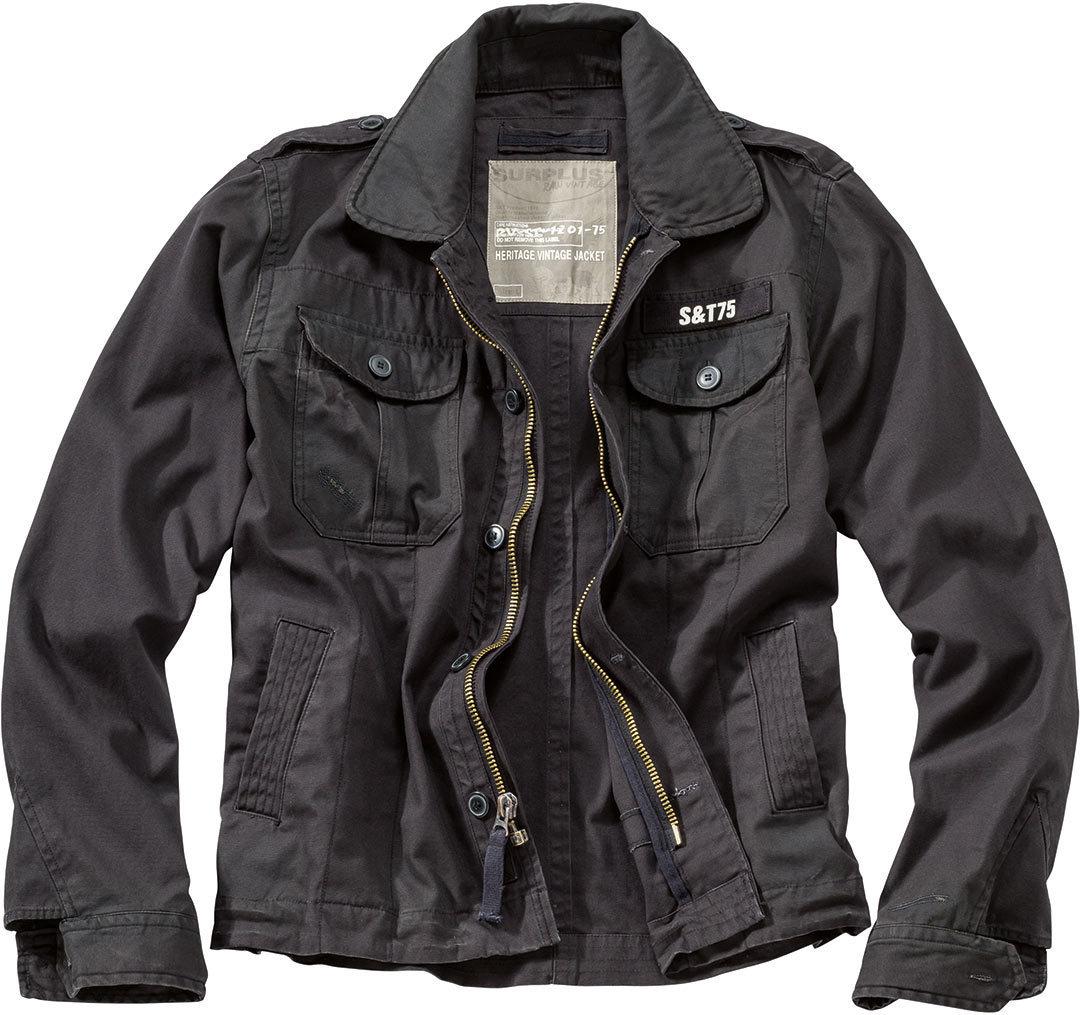 Surplus Heritage Vintage Jacke, schwarz, Größe S, schwarz, Größe S