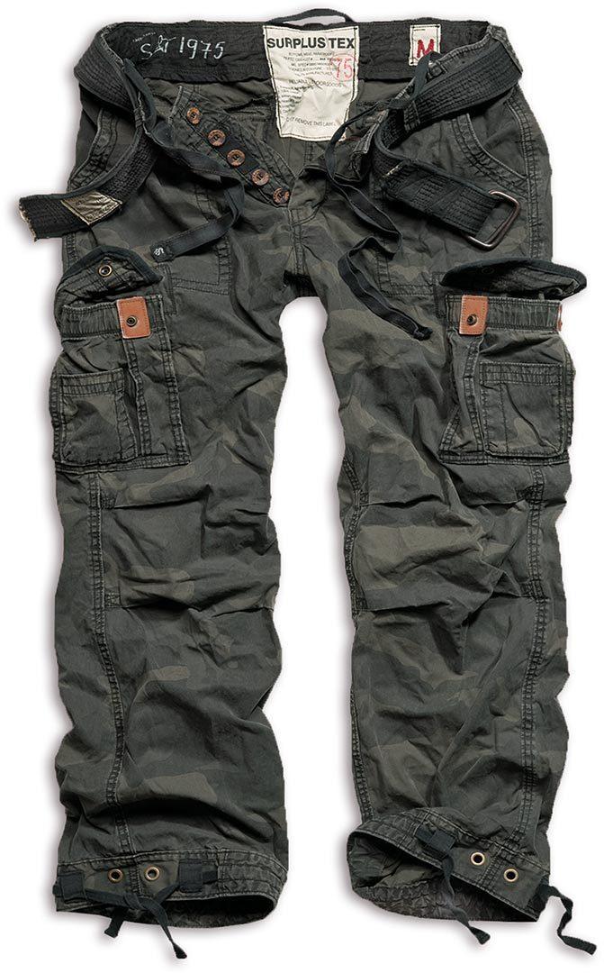 Surplus Premium Vintage Hose, schwarz, Größe S, schwarz, Größe S