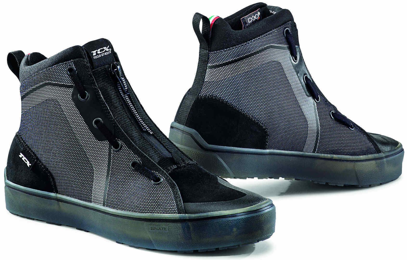 TCX Ikasu Wasserdichte Motorradschuhe, schwarz-silber, Größe 45, schwarz-silber, Größe 45
