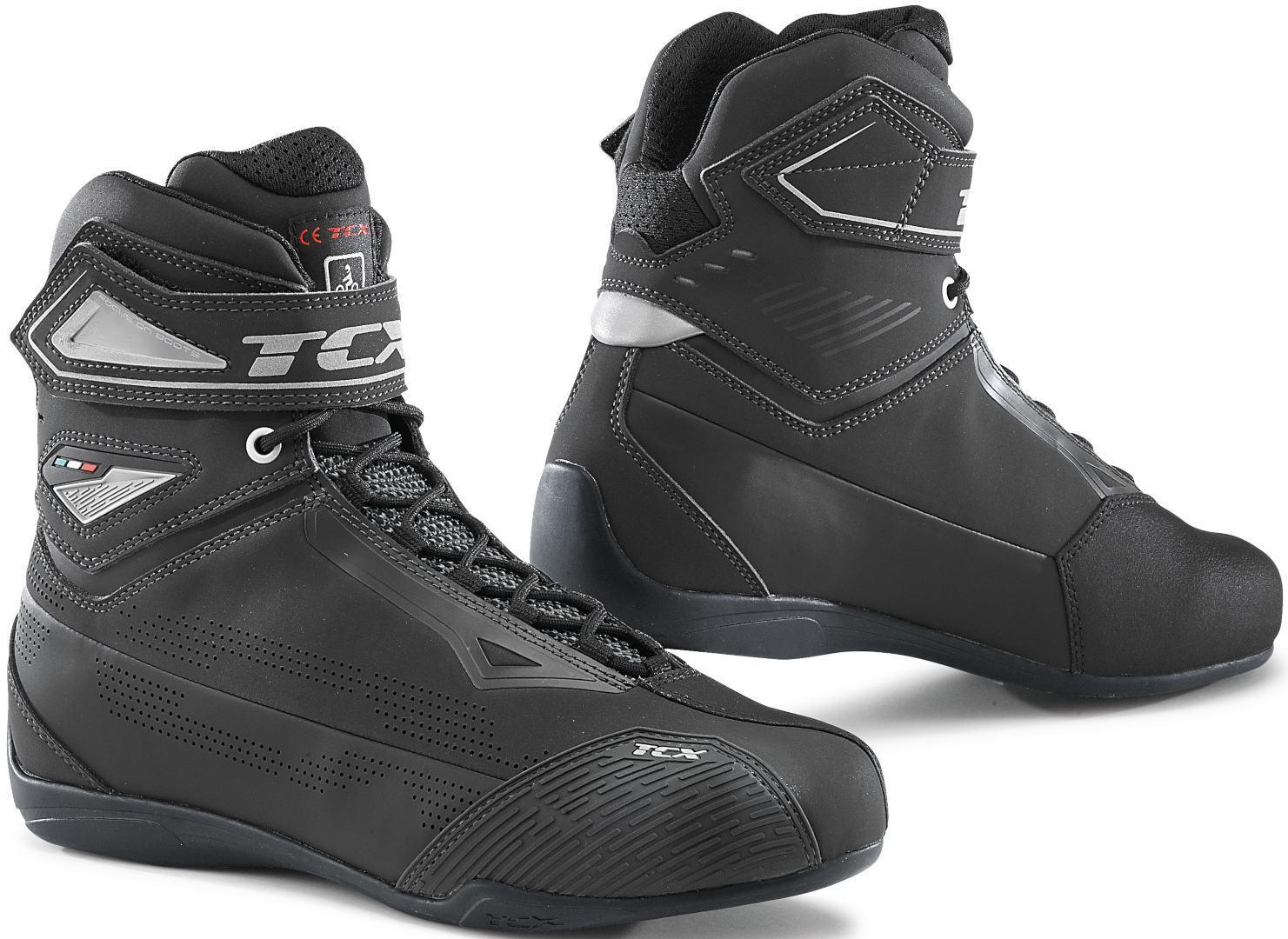 TCX Rush 2 Air perforierte Motorradschuhe, grau, Größe 43, grau, Größe 43