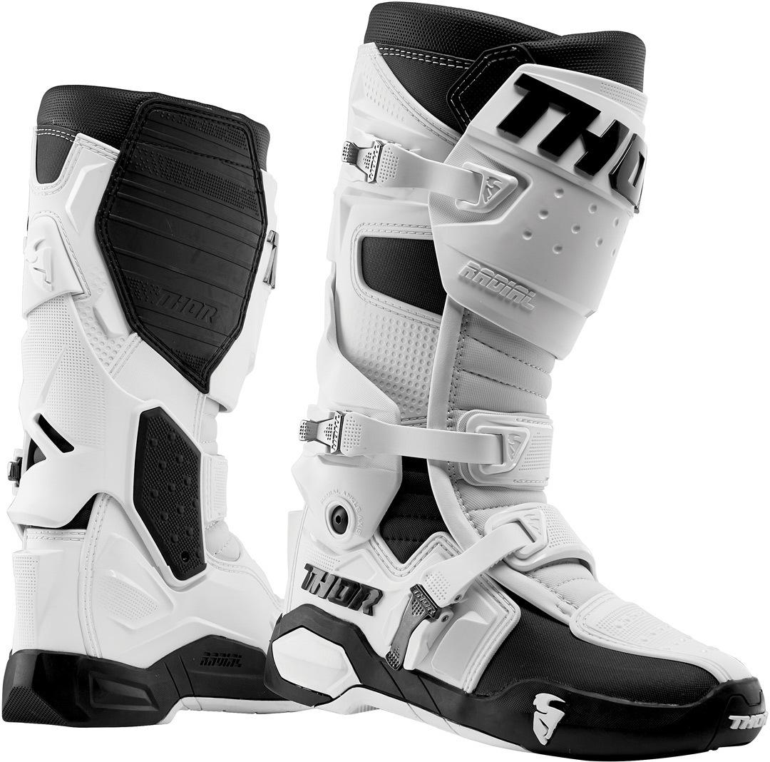Thor Radial Motocross Stiefel, schwarz-weiss, Größe 47 48, schwarz-weiss, Größe 47 48