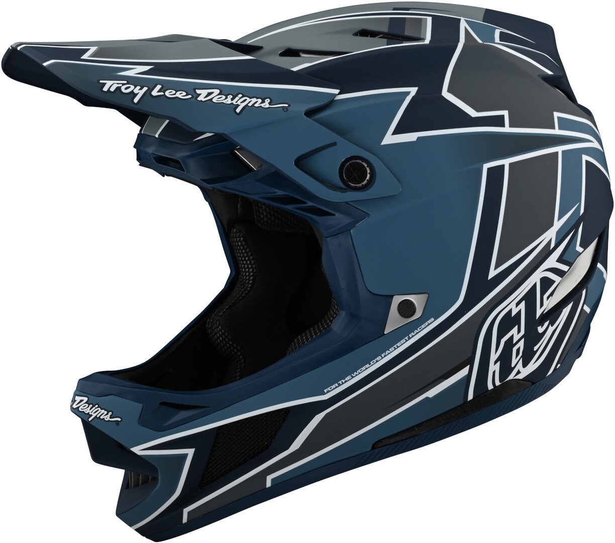 Troy Lee Designs D4 Graph MIPS Downhill Helm, schwarz-blau, Größe S, schwarz-blau, Größe S