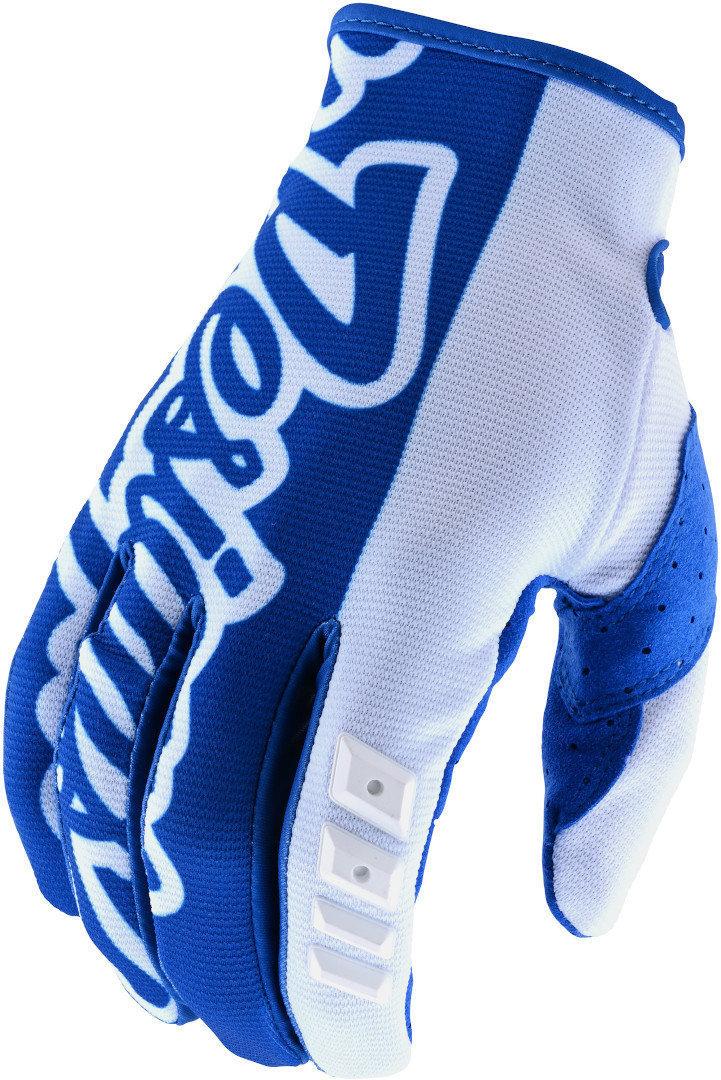 Troy Lee Designs GP Motocross Handschuhe, weiss-blau, Größe 2XL, weiss-blau, Größe 2XL