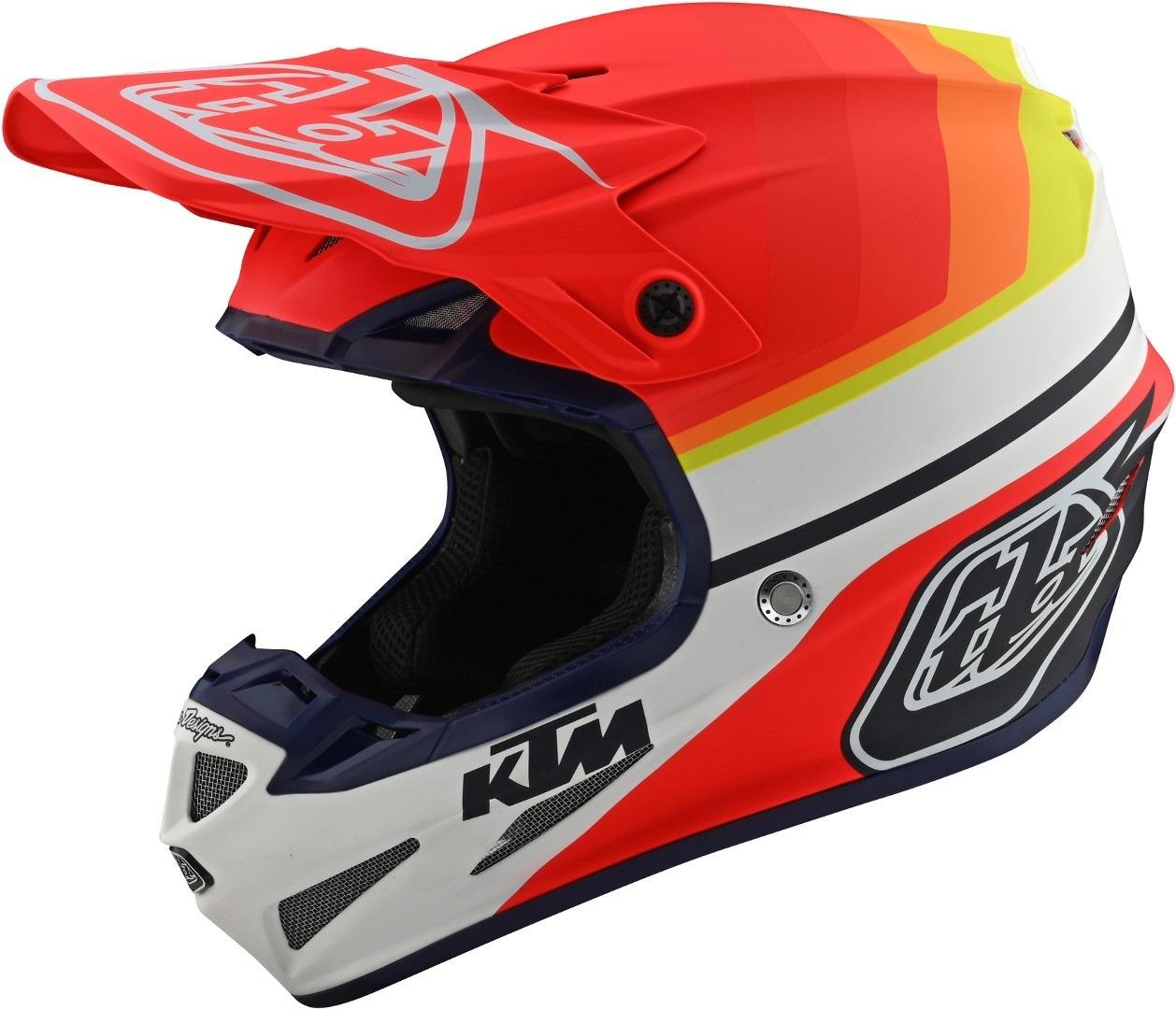 Troy Lee Designs SE4 KTM Mirage MIPS Motocross Helm, weiss-rot, Größe XL, weiss-rot, Größe XL