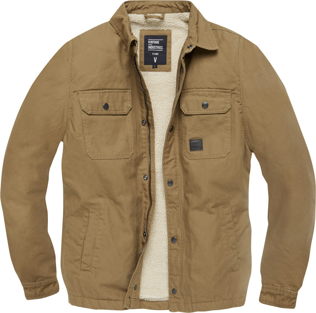 Vintage Industries Dean Sherpa Jacke, braun, Größe 3XL, braun, Größe 3XL