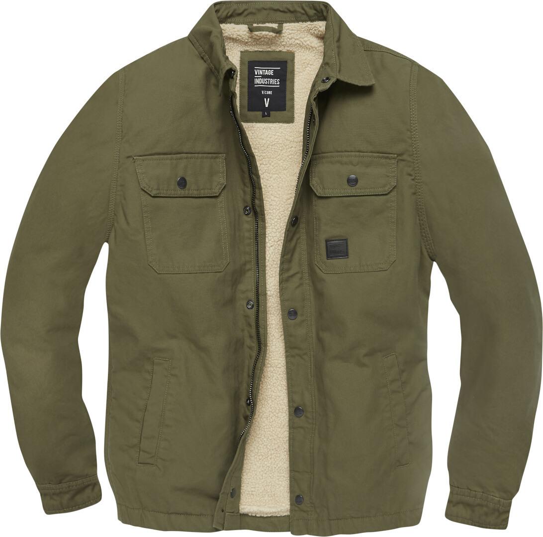 Vintage Industries Dean Sherpa Jacke, grün, Größe L, grün, Größe L