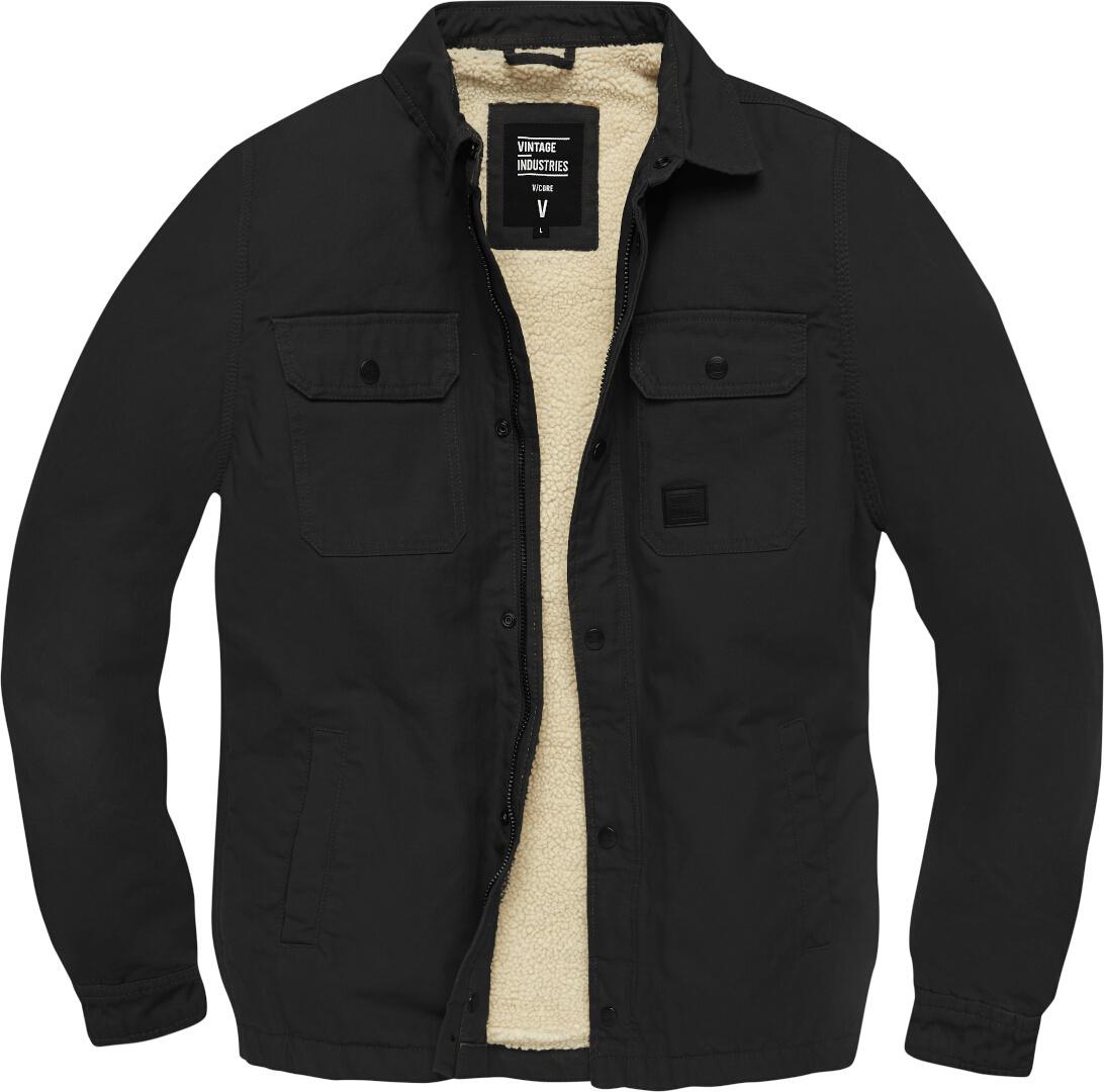 Vintage Industries Dean Sherpa Jacke, schwarz, Größe XL, schwarz, Größe XL