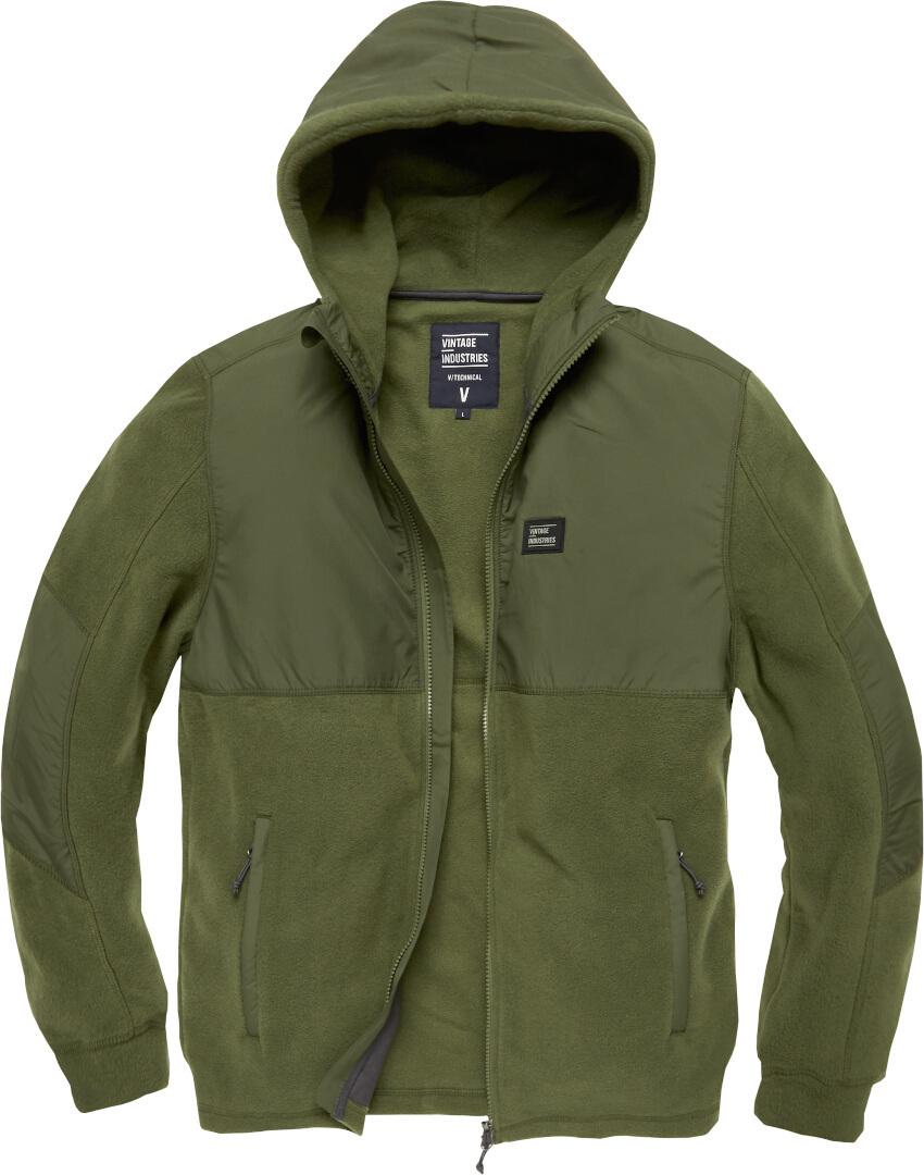 Vintage Industries Landell Polar Fleece Jacke, grün, Größe M, grün, Größe M