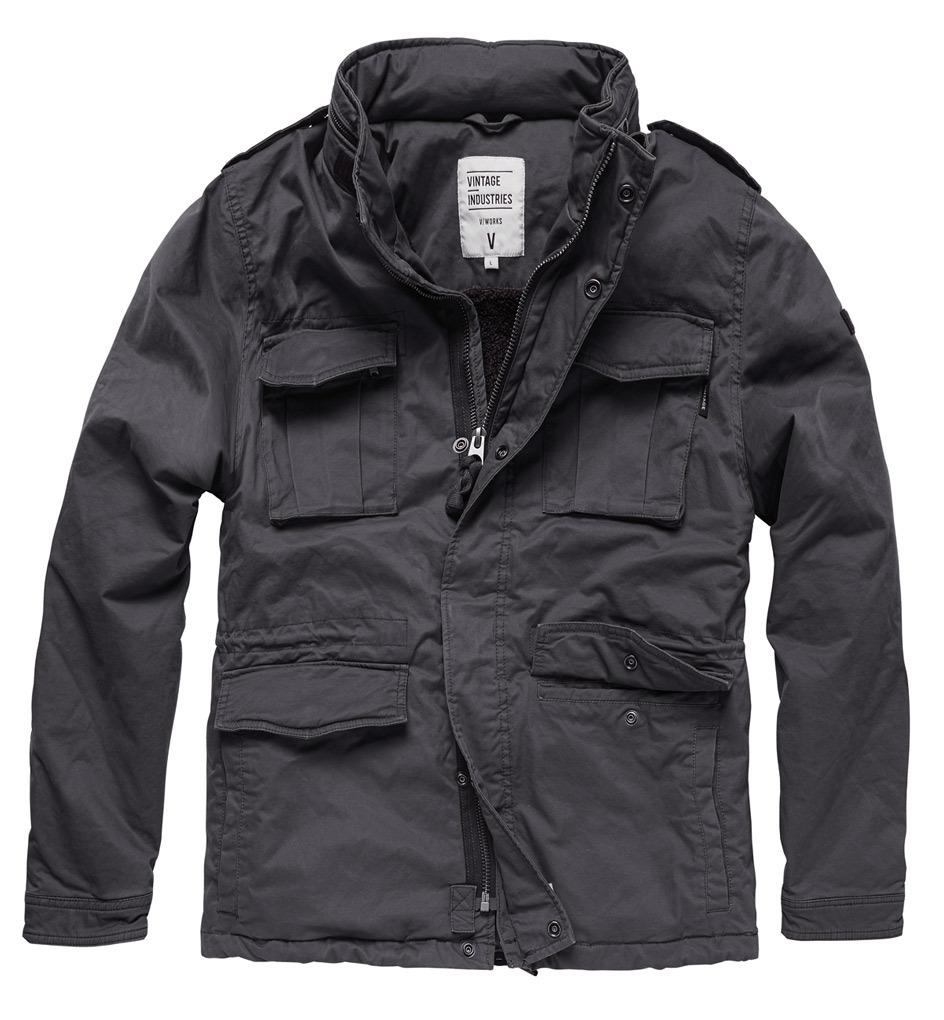 Vintage Industries Madison Textiljacke, schwarz, Größe 3XL, schwarz, Größe 3XL