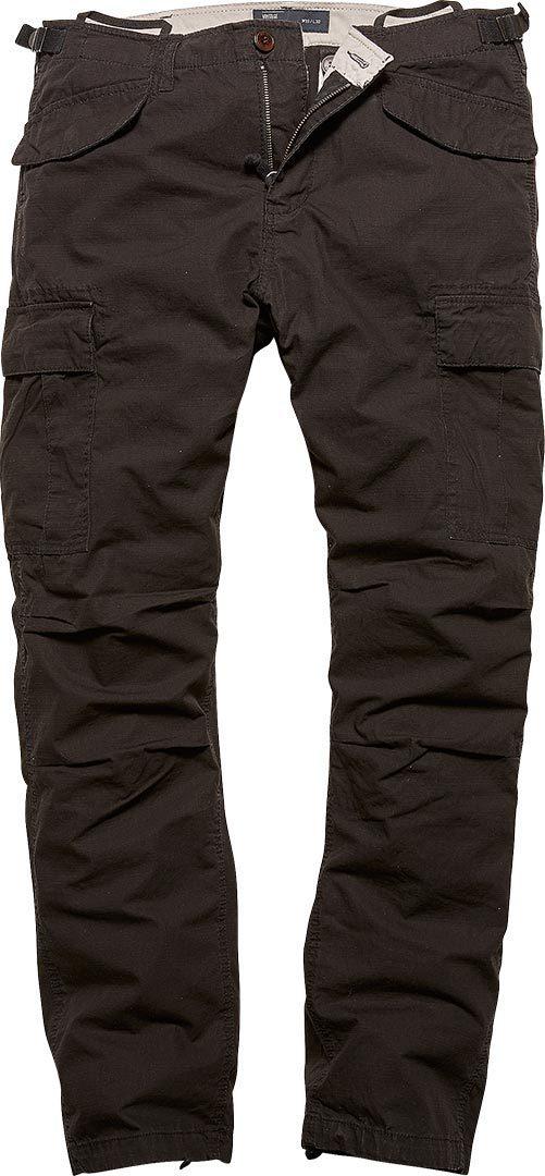 Vintage Industries Miller M65 Hose, schwarz, Größe 36, schwarz, Größe 36