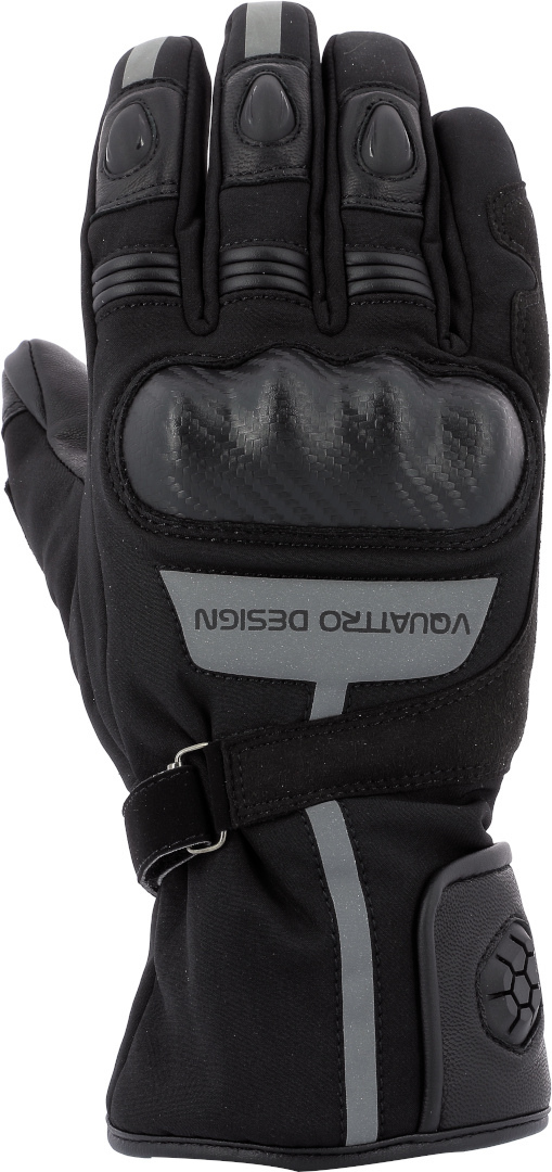 VQuattro Burn 18 Motorradhandschuhe, schwarz, Größe L, schwarz, Größe L
