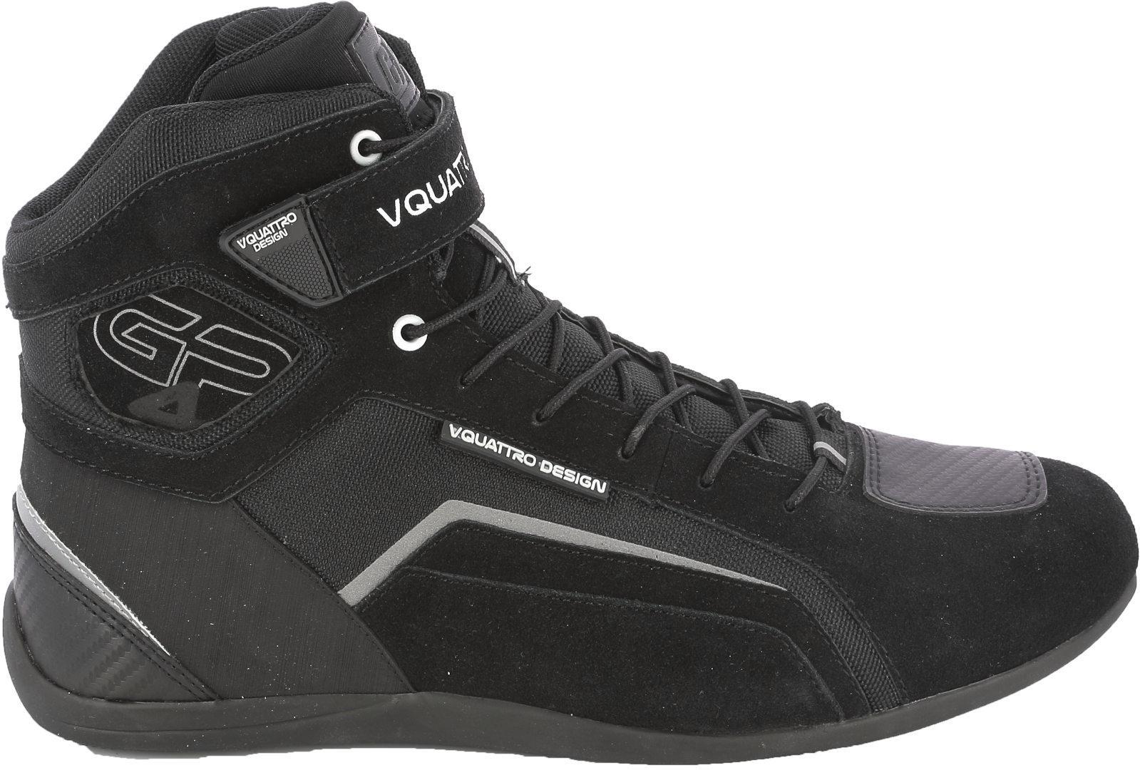 VQuattro GP4 19 Motorradschuhe, schwarz, Größe 44, schwarz, Größe 44