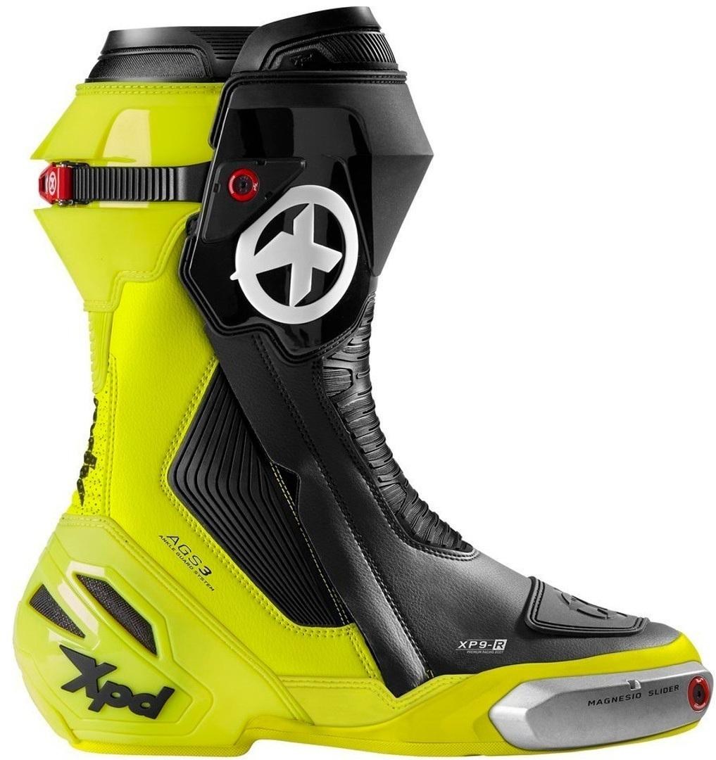 XPD XP9-R Motorradstiefel, schwarz-gelb, Größe 42, schwarz-gelb, Größe 42